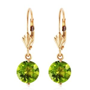 GOLD LEVERBACK EARRING WITH PERIDOTS